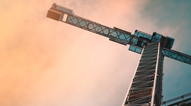 sunset-crane